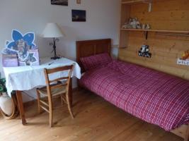 La camera preparata con il letto singolo