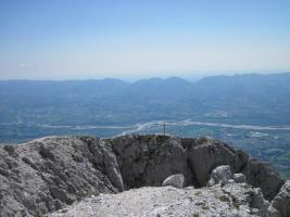 Panorama sulla Val Belluna dal Monte Pizzocco